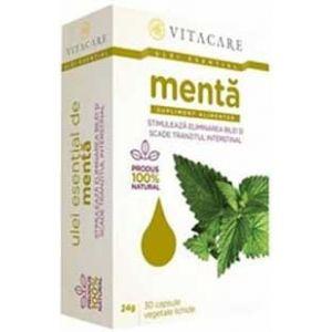 ULEI ESENTIAL DE MENTA 50 mg, 30 capsule, Vitacare