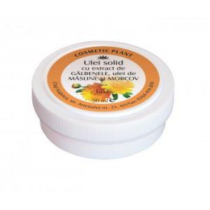 ULEI SOLID CU EXTRACT DE GALBENELE, ULEI DE MASLINE SI MORCOV 20 ml, Cosmetic Plant