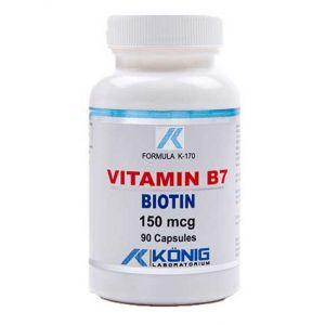 VITAMINA B7 (BIOTINA) 10 mcg, 90 capsule, Konig Laboratorium