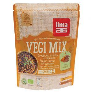 VEGI MIX CURRY, BULGUR SI LINTE BIO 250 g, Lima
