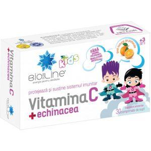 VITAMINA C CU ECHINACEA PENTRU COPII, 30 comprimate de supt, Ac Helcor