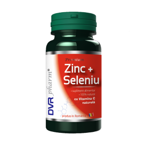 ZINC + SELENIU CU VITAMINA C NATURALA 60 capsule, DVR Pharm
