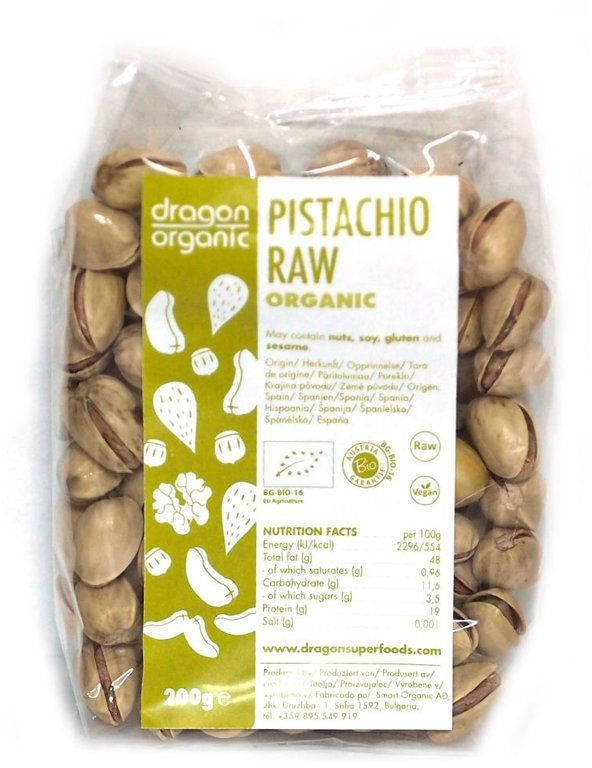 FISTIC RAW BIO 150 g, Dragon Superfoods