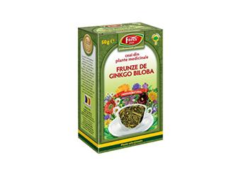 GINGKO BILOBA FRUNZE, Ceai 50 g, Fares