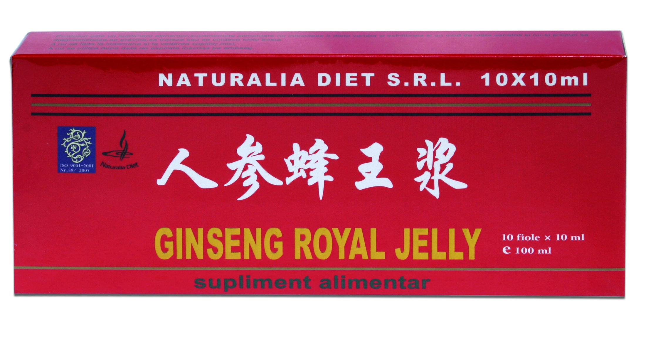 GINSENG & ROYAL JELLY 10 fiole x 10 ml, Naturalia Diet