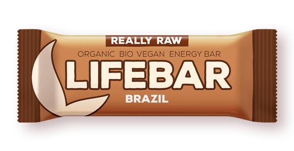 BATON CU NUCI BRAZILIENE LIFEBAR RAW BIO, 47 g, Lifefood