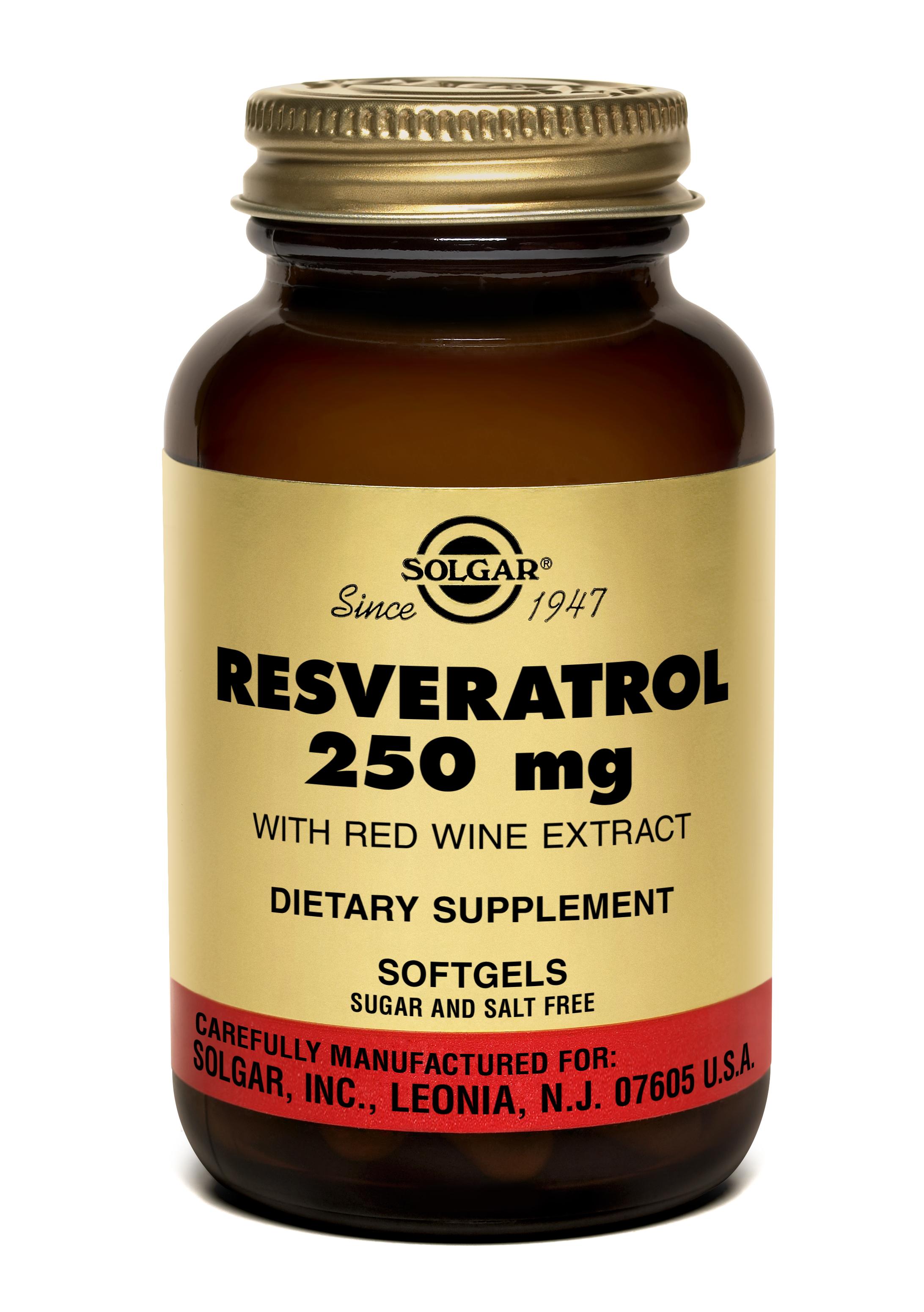 RESVERATROL 250 mg, 30 capsule moi, Solgar