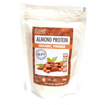 PUDRA PROTEICA DIN MIGDALE RAW BIO 200 g, Dragon Superfoods