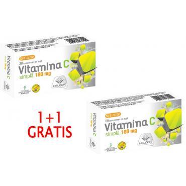 VITAMINA C 180 mg, 20 comprimate de supt, 1+1 GRATIS, Ac Helcor