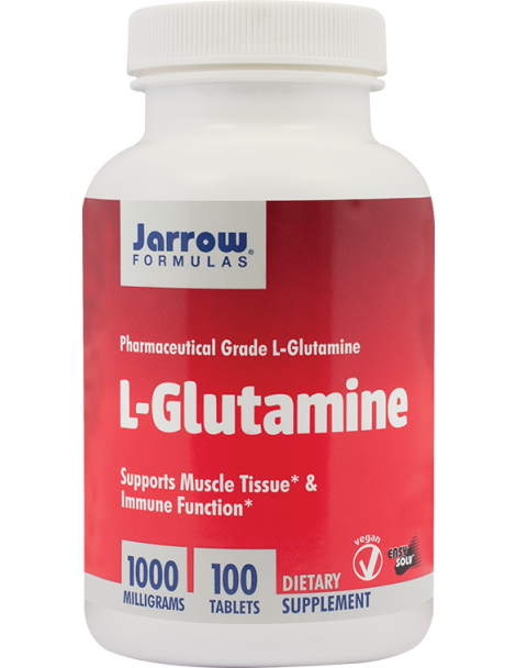 L-GLUTAMINE 1000 mg, 100 tablete, Jarrow Formulas