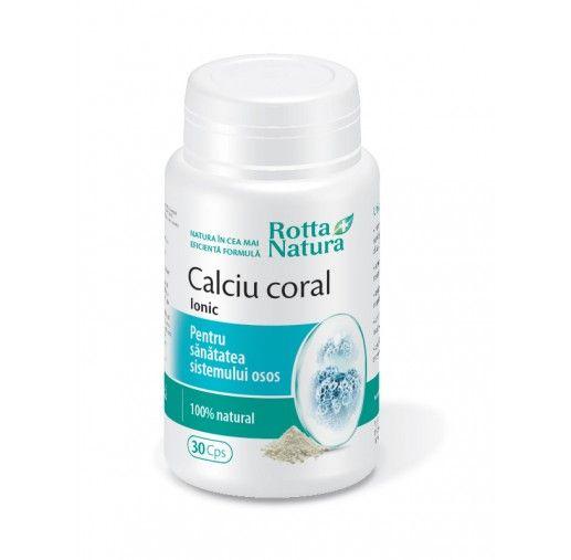 CALCIU CORAL IONIC, 30/90 capsule, Rotta Natura