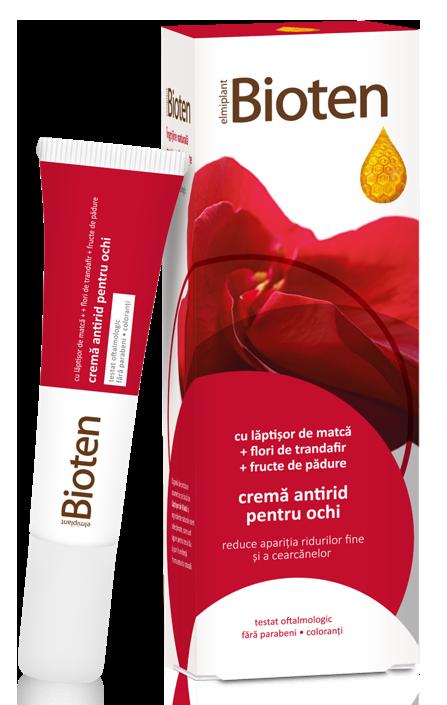 CREMA ANTIRID PENTRU OCHI -  BIOTEN, 15 ml, Elmiplant
