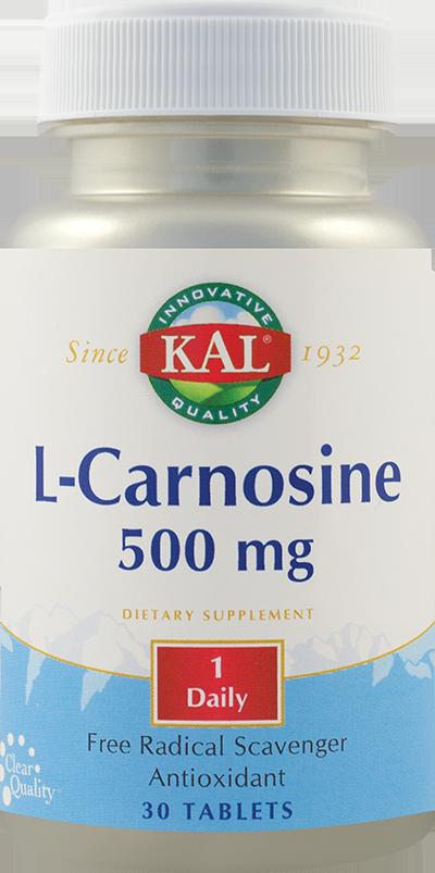 L-CARNOSINE 500 mg, 30 tablete, Kal
