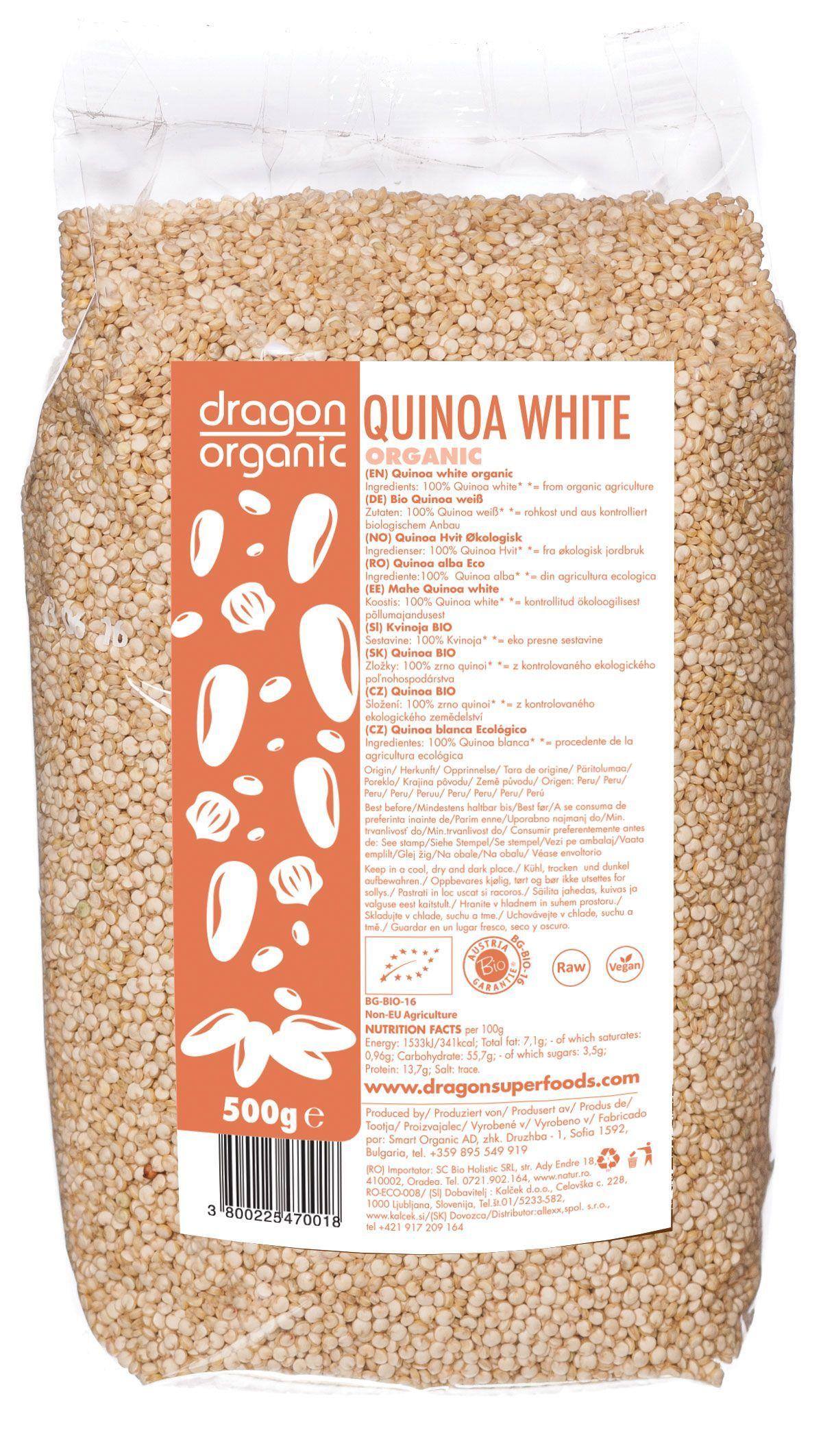 QUINOA ALBA BIO 500 g, Dragon Superfoods