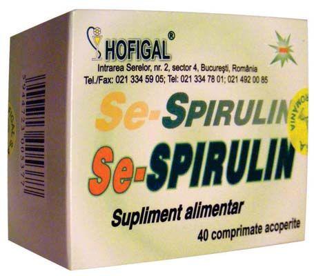 SE-SPIRULIN 40 comprimate, Hofigal