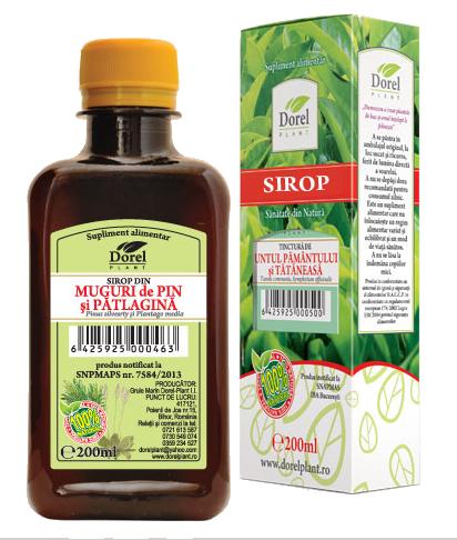 MUGURI DE PIN SI PATLAGINA, Sirop 200/500 ml, Dorel Plant