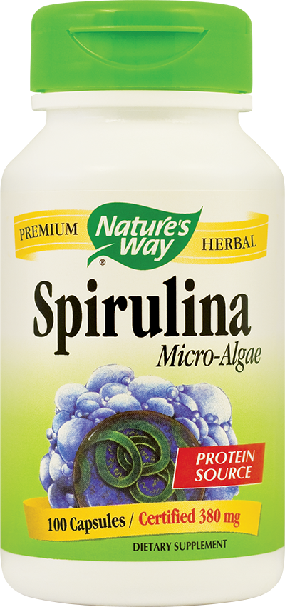 SPIRULINA MICRO-ALGAE 380 mg, 100 capsule, Nature's Way