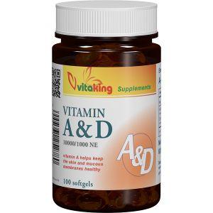 VITAMINA A SI D (10.000/ 1.000 UI) , 60 capsule gelatinoase, Vitaking
