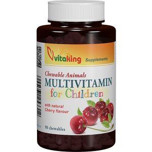 MULTIVITAMINE PENTRU COPII, 90 comprimate masticabila, Vitaking