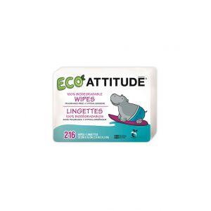 SERVETELE UMEDE 100% BIODEGRADABILE - FARA MIROS (REZERVA), 216 buc, Attitude
