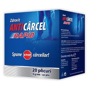 ANTICARCEL RAPID 20 plicuri, 80 g, Zdrovit