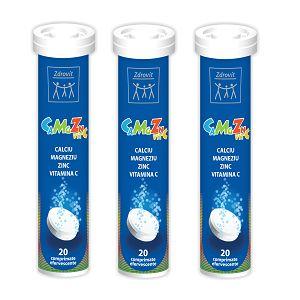 CAMGZN + VITAMINA C 20 comprimate efervescente, 80 g, Zdrovit