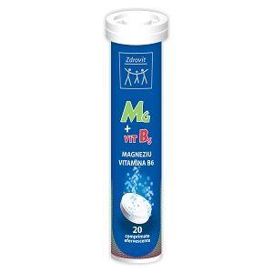 MAGNEZIU + B6, 20 comprimate efervescente, 80 g, Zdrovit