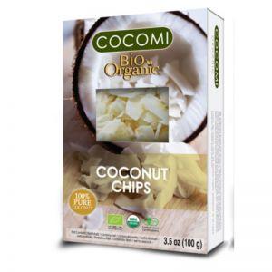 CHIPS DIN NUCA DE COCOS (RAW) BIO, 100 g, Cocomi