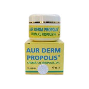 CREMA CU PROPOLIS 5% - AUR DERM, 30 ml, Laur Med