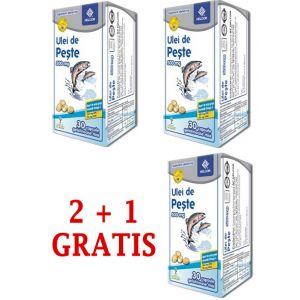 ULEI DE PESTE 500 mg, 30 comprimate, 2+1 GRATIS, Ac Helcor
