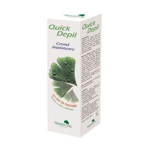 CREMA DEPILATOARE CU ULEI DE TRANDAFIR - QUICK DEPIL 125 ml, Transvital Cosmetics