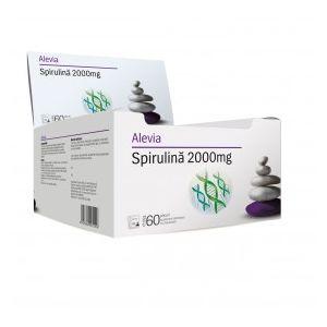 SPIRULINA PULBERE INSTANT 2000 mg, 60 plicuri, Alevia