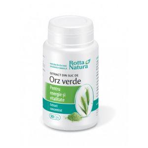 EXTRACT DIN SUC DE ORZ VERDE 300 mg, 30 capsule, Rotta Natura