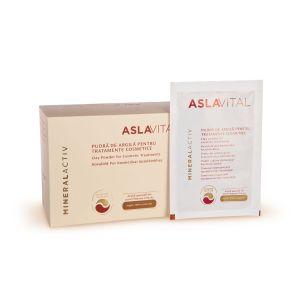 PUDRA DE ARGILA PENTRU TRATAMENTE COSMETICE ASLAVITAL MINERALACTIV 10 x 20 g, Farmec