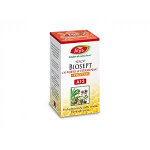 BIOSEPT (antibacterian, antiviral) CU MIERE SI PROPOLIS Sirop A13, 100 ml, Fares
