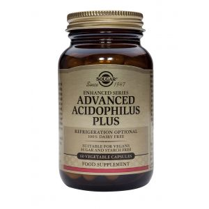 ADVANCED ACIDOPHILUS PLUS, 60 capsule, Solgar