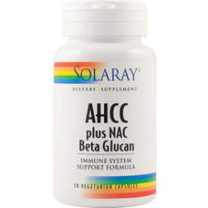 AHCC PLUS NAC & BETA GLUCAN 30 capsule, Solaray