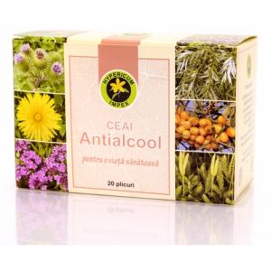 ANTIALCOOL, Ceai 20 plicuri, Hypericum Impex
