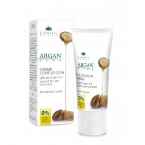 CREMA CONTUR OCHI CU ULEI DE ARGAN SI ALOE VERA BIO 30 ml, Cosmetic Plant