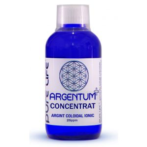 ARGINT COLOIDAL - ARGENTUM+ 25 PPM CONCENTRAT 240/480 ml, Pure Life