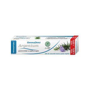 GENNADENT ARGENTUM - Pasta de dinti, 80 ml, Vivanatura
