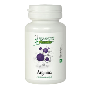 ARGININA 1000 mg - SPECIALISTII PLANTELOR, 60 comprimate, Dacia Plant