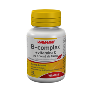 B COMPLEX + VITAMINA C 30 tablete, Walmark