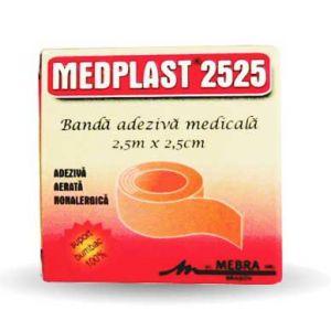 BANDA ADEZIVA 2525 MEDPLAST 2.5cm x 2.5m, Mebra