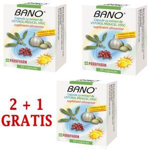 BANO CU EXTRACT DE USTUROI, PADUCEL SI VASC 30 capsule, Parapharm