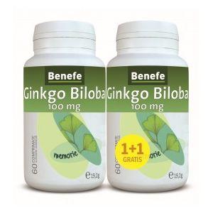 GINKGO BILOBA 100 mg, 60+60 comprimate, Benefe