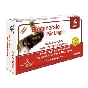 BIOMINERALE PAR SI UNGHII 30 comprimate, Ac Helcor