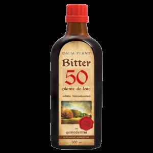 BITTER 50 PLANTE DE LEAC CU GANODERMA, Tinctura 500 ml, Dacia Plant