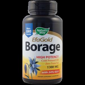 BORAGE 1300 mg EFAGOLD, 60 capsule, Nature''s Way