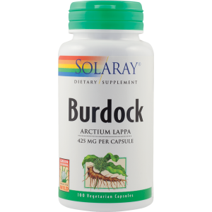 BURDOCK (Brusture) 500 mg, 100 capsule, Solaray